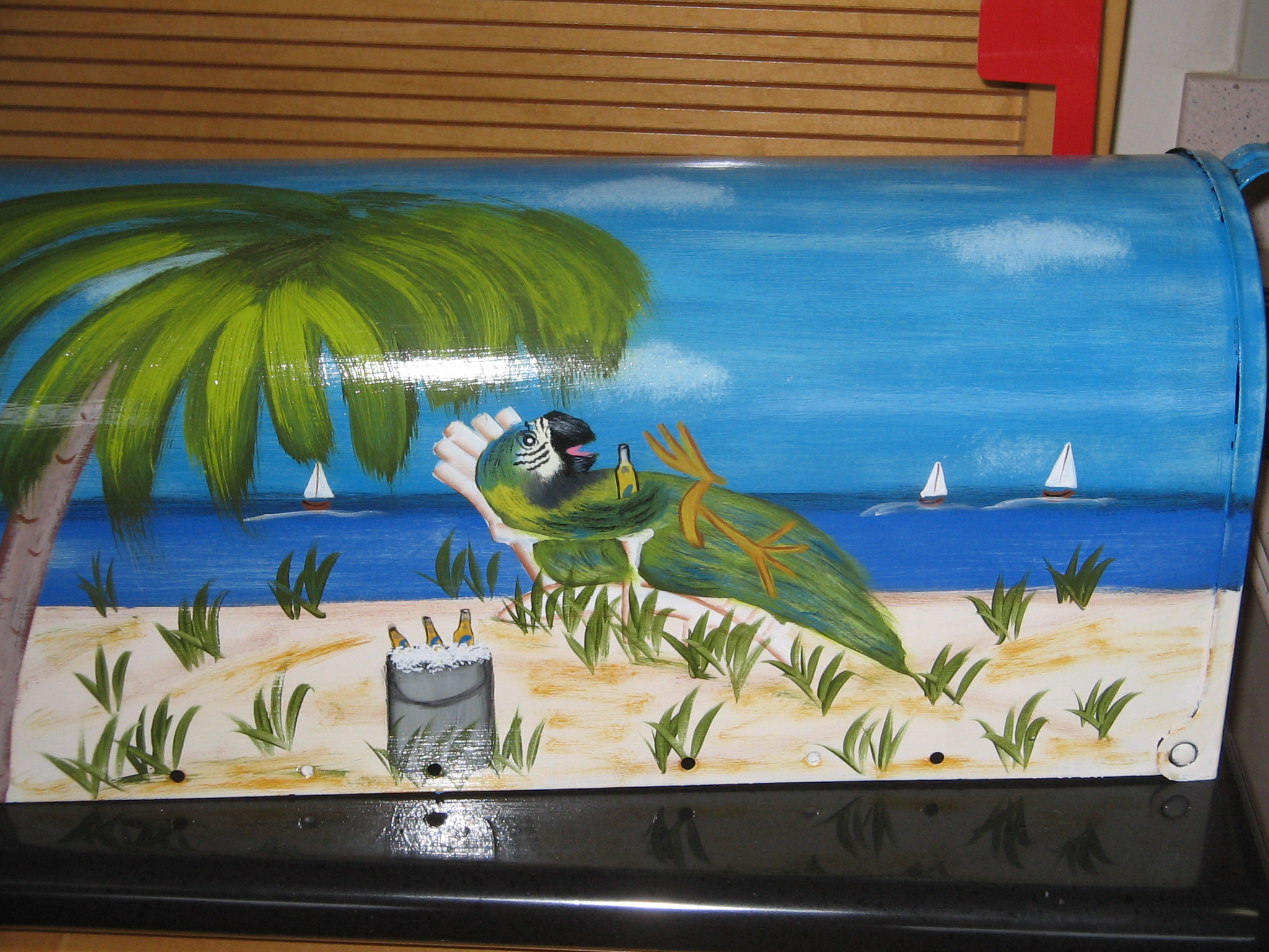 hand painted mailbox designs. This Mailbox As Well My Others Are Hand Painted Designs